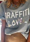 Tee shirt - Graffiti Lover - White 3D, hologramme