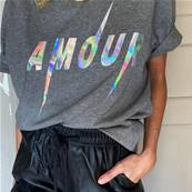 Tee shirt - Amour - Hologramme