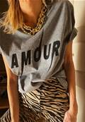 Tee shirt - Amour - Black mat
