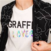 Tee shirt - Graffiti Lover - Black 3D, Hologramme