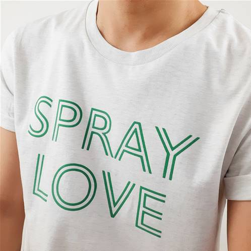 Tee shirt - Spray Love - Green velvet